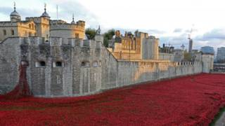 伦敦塔前的罂粟红潮
