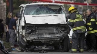 Ataque con auto en Jerusalén