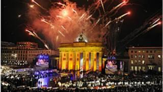 Sherehe katika Brandenburg Gate, Berlin