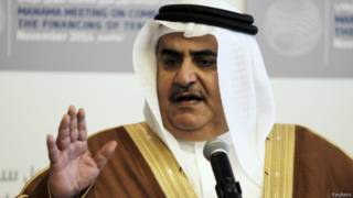وزير خارجية البحرين، الشيخ خالد أحمد آل خليفة