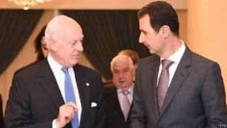Mistura (izquierda) y Al Assad (derecha).