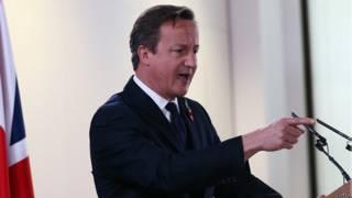 英国保守党领袖卡梅伦