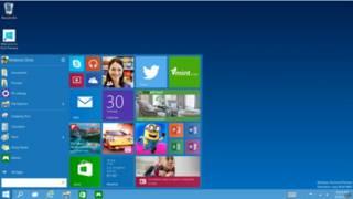 Menú de Windows 10