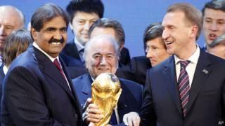 امیر وقت کویت و رئیس فیفا