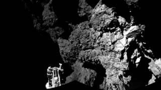 عکس فیله از سطح دنباله دار