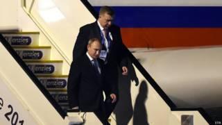 Владимир Путин прибывает в брисбейн