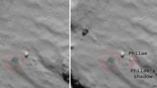 """На фотографии Европейского космического агентства отмечен модуль """"Филы"""" и его тень"""