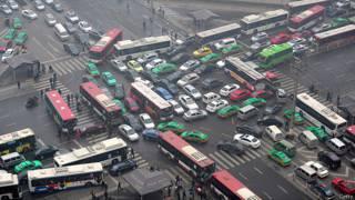 Трафик в китайском городе