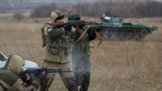 جنود موالون لروسيا في أوكرانيا