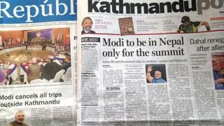 नरेंद्र मोदी, नेपाली अख़बार