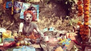 नेपाल में एक हिंदू सन्यासी