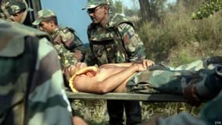 घायल भारतीय सैनिक, जम्मू