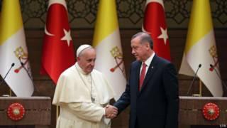 Папа и президент Турции