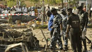 На месте взрыва в Нигерии