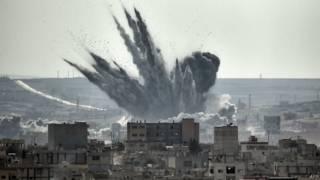 Взрыв в Кобани