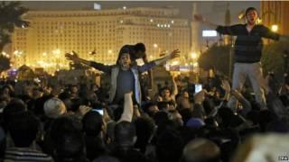 मिस्र में होस्नी मुबारक बरी, प्रदर्शन