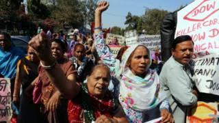 Afectados por la tragedia de Bhopal
