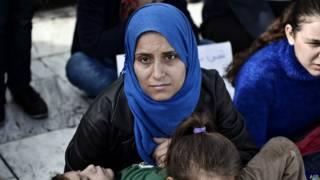 Сирийские беженцы в Греции