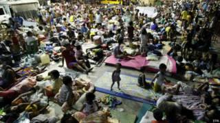 फ़िलीपीन्स, तूफ़ान, बेघर