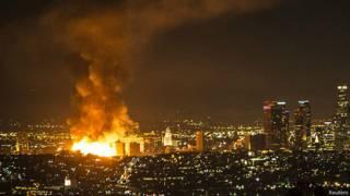 Incendio en Los Ángeles