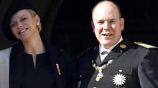 Monaco Prensesi Charlene ve Prens 2. Albert