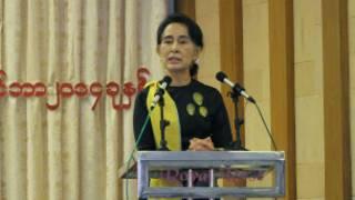 Daw Aung San Suu Kyi at CEC meeting