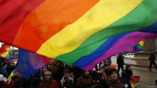 Парад активистов ЛГБТ в Санкт-Петербурге
