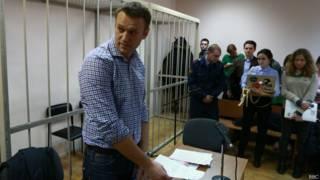 Алексей Навальный в Замоскворецком суде