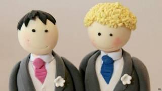 同性婚禮上的蛋糕裝飾