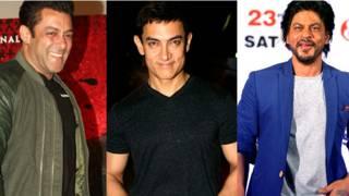 सलमान खान, शाहरुख खान, आमिर खान