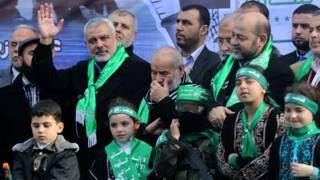 митинг Хамас в Газе