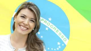 Brasileira sorrindo