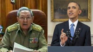 Barack Obama da Raul Castro