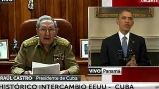 Presiden Raul Castro dan Pesident Barack Obama