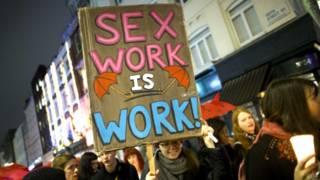 倫敦性工作者抗議遊行
