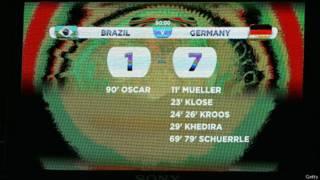 Placar do jogo Brasil x Alemanha