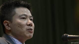 Giáo sư Ngô Bảo Châu ở Đại học Bách khoa Hà Nội hồi tháng 3/2013