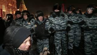 Российские опозиционеры в Москве
