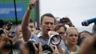 रूस में भ्रष्टाचार विरोधी अभियान के नेता अलेक्सी नवालिन