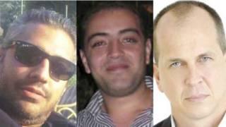 अलजज़ीरा के सज़ायाफ्ता पत्रकार पीटर ग्रेस्टे, मोहम्मद फहमी और बहर मोहम्मद