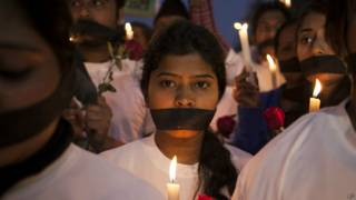 Демонстрация в Дели против изнасилований