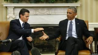 Enrique Peña Nieto y Barack Obama en la Casa Blanca