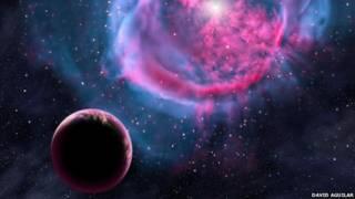 تصویر ساختگی از یک سیاره دور افتاده در کهکشان راه شیری