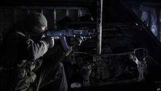 Сепаратист под Донецком