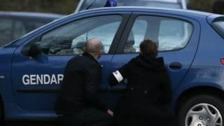 Французские полицейские в Даммартене