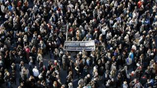 Марш солидарности с Charlie Hebdo в Марселе
