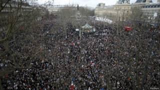 راهپیمایی سکوت در پاریس