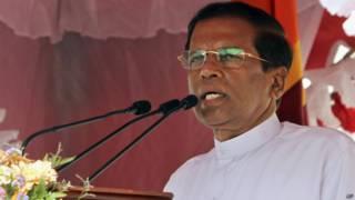 मैत्रीपाल सिरिसेना, श्रीलंका के राष्ट्रपति