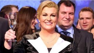 kitarovic, elected, croatia's, first, woman, president