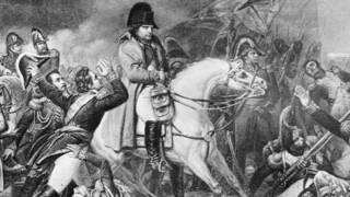 Grabado de la Batalla de Waterloo